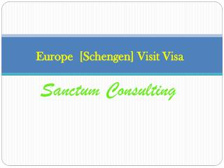 Europe Visit Visa Sanctum Consulting