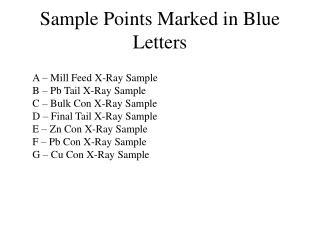 Sample Points Marked in Blue Letters