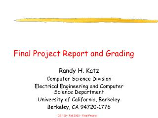Final Project Report and Grading