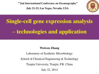Single-cell gene expression analysis � technologies and application Weiwen Zhang