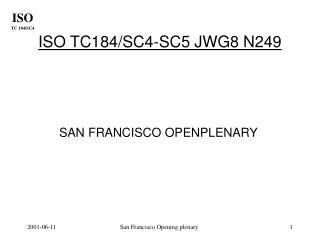 ISO TC184/SC4-SC5 JWG8 N249
