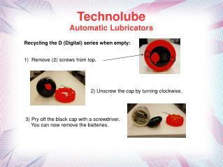 Technolube  Automatic Lubricators