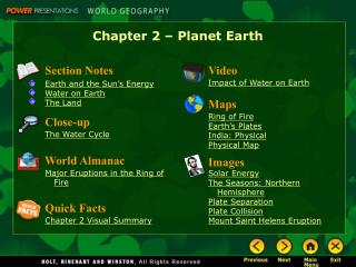 Chapter 2 � Planet Earth
