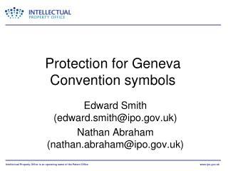 Protection for Geneva Convention symbols