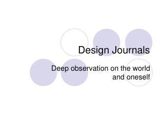 Design Journals