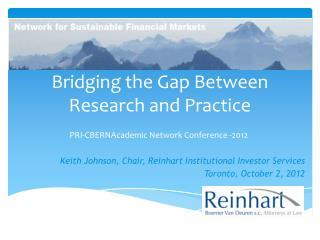Bridging the Gap Between Research and Practice