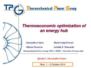 Thermochemical Power Group (TPG) - DIME – University of Genoa, Italy