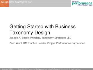 Getting Started with Business Taxonomy Design