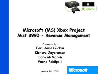 Microsoft MS Xbox Project