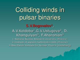 Colliding winds in pulsar binaries