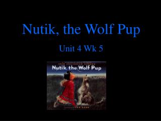 Nutik, the Wolf Pup  Unit 4 Wk 5