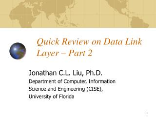 Quick Review on Data Link Layer  –  Part 2