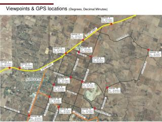 Viewpoints & GPS locations  (Degrees, Decimal Minutes)
