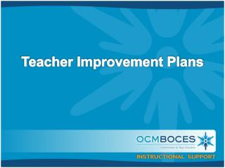 Teacher Improvement Plans
