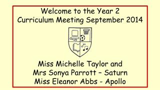 Welcome to the Year 2  Curriculum Meeting September 2014