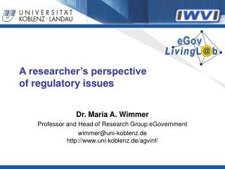 A researcher's perspective of regulatory issues
