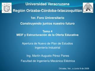 Tema 4 MEIF y Estructuración de la Oferta Educativa