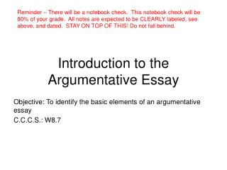 elements of a good introduction to an essay