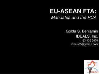 EU-ASEAN FTA: Mandates and the PCA