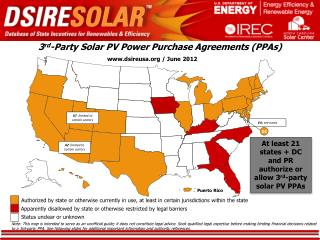 3 rd -Party Solar PV Power Purchase Agreements (PPAs)