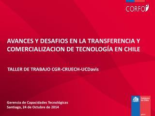 AVANCES Y DESAFIOS EN LA TRANSFERENCIA Y COMERCIALIZACION DE TECNOLOG�A EN CHILE