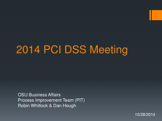 2014 PCI DSS Meeting