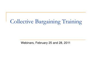 Collective Bargaining Training