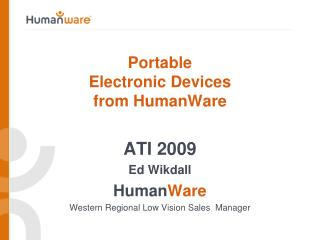 Portable   Electronic Devices  from HumanWare