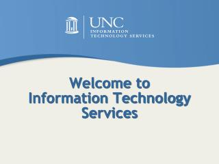 Welcome to Information Technology Services