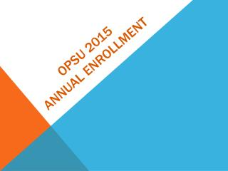 OPSU 2015 Annual Enrollment