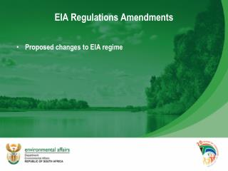 EIA Regulations Amendments