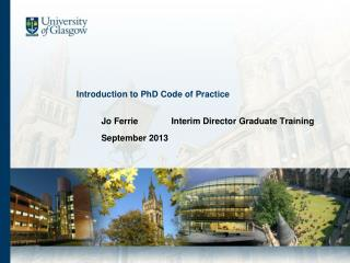 Introduction to PhD Code of Practice