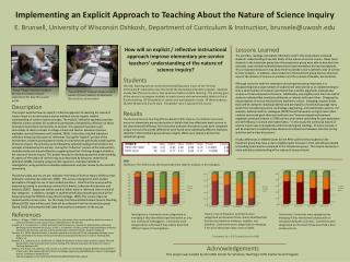 Implementing an Explicit Approach to Teaching About the Nature of Science Inquiry
