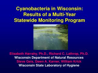 Cyanobacteria in Wisconsin: Results of a Multi-Year Statewide Monitoring Program