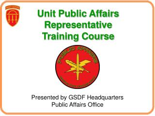 Unit Public Affairs Representative Training Course