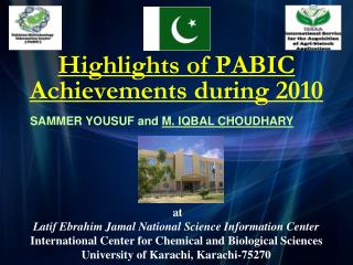 Highlights of PABIC Achievements during 2010