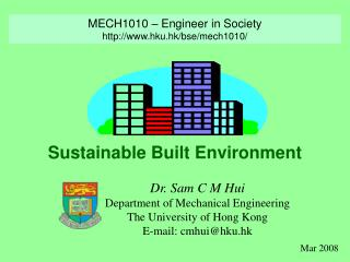 Sustainable Built Environment