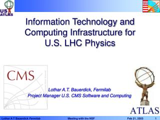 Information Technology and Computing Infrastructure for   U.S. LHC Physics