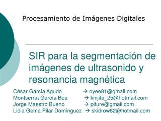 SIR para la segmentación de imágenes de ultrasonido y resonancia magnética
