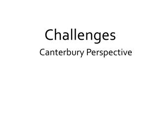 A  Canterbury Perspective