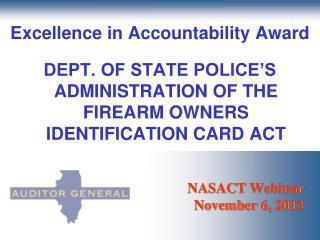 NASACT  Webinar November 6, 2013