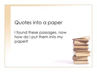 Quotes into a paper