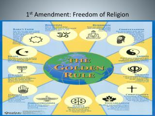 1 st  Amendment: Freedom of Religion