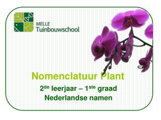 Nomenclatuur Plant