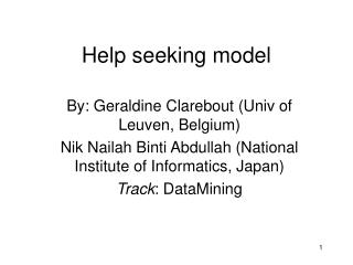 Help seeking model