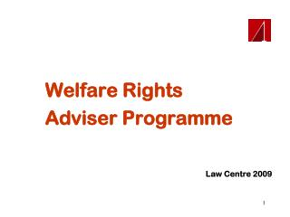 Welfare Rights Adviser Programme