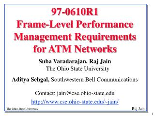 97-0610R1  Frame-Level Performance Management Requirements  for ATM Networks