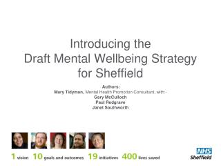Introducing the  Draft Mental Wellbeing Strategy for Sheffield