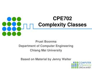 CPE702 Complexity Classes