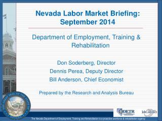 Nevada Labor Market Briefing: September 2014